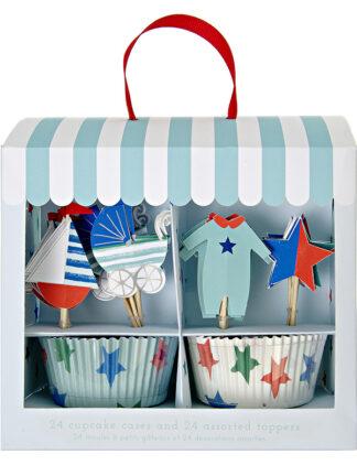 Adornos Para Cup Cakes para Bautizo y Baby Shower