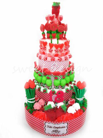 Tarta de chuches para cumpleaños