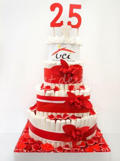 tarta de chuches para evento corporativo