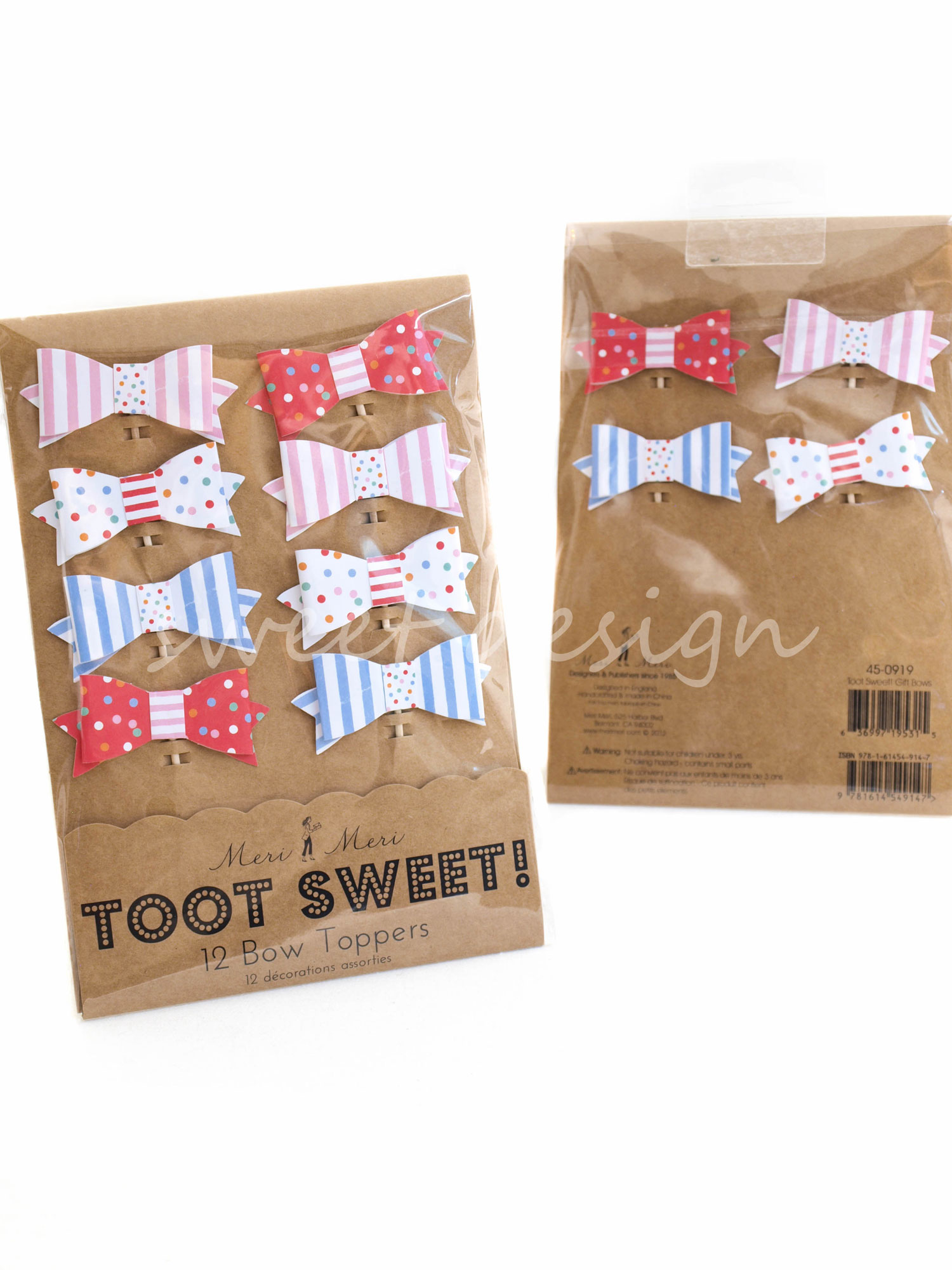 lazos toot sweet para cup cakes 12 unidades sweet design