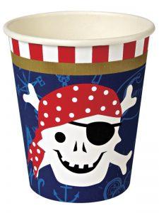 Vasos fiesta pirata