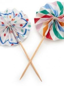 Pics decorados para cupcakes