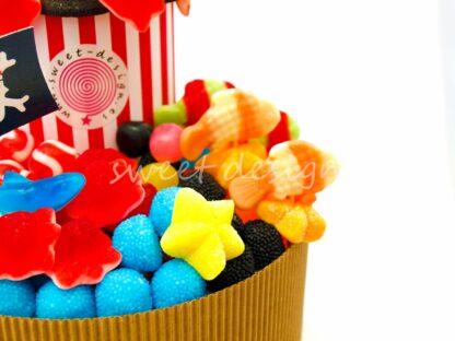 Tarta de golosinas para cumpleaños