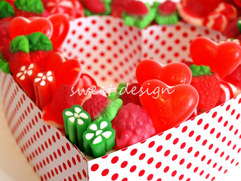 Coraz n de chuches hueco con mensaje grande sweet design - Regalos especiales para san valentin ...