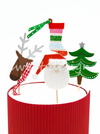 Adornos de Navidad para Cup Cakes de Navidad