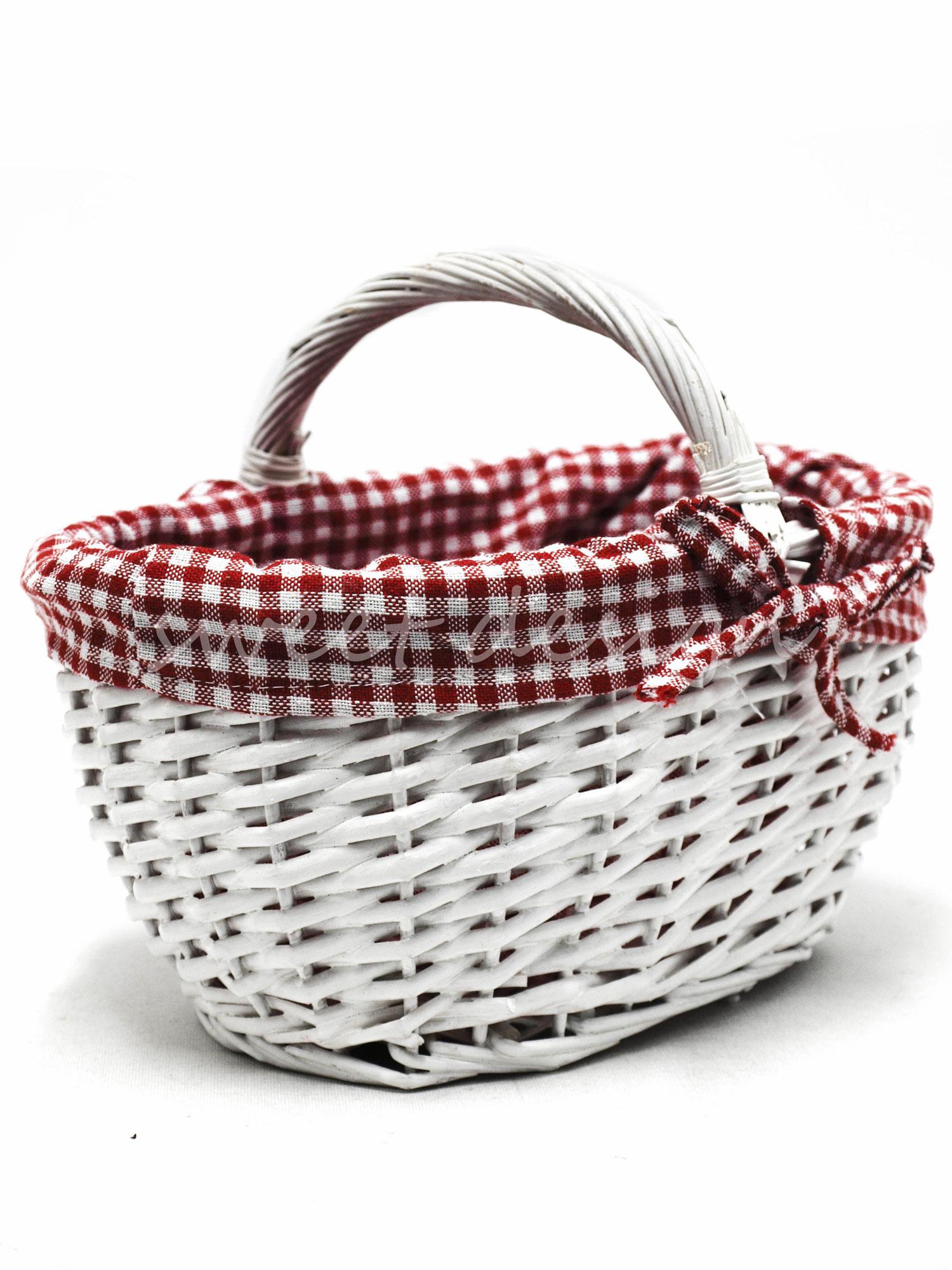 cesta asa baja blanca consin tela