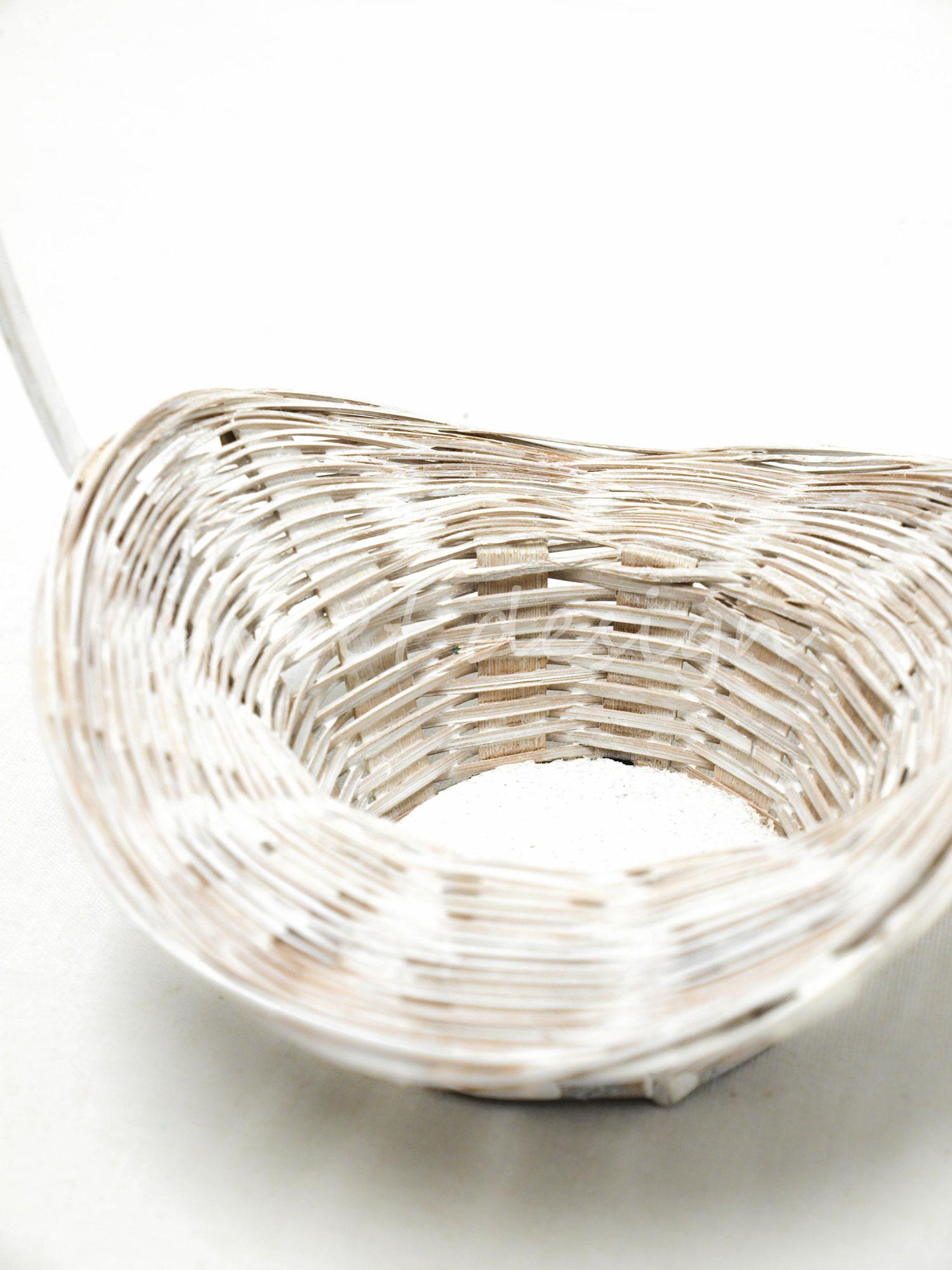 Cesta sombrero blanca peque a sweet design - Cestas de mimbre pequenas ...