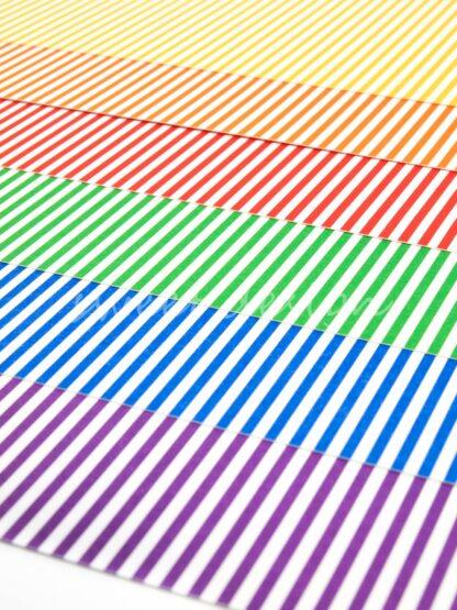 Cartulina rayas de colores