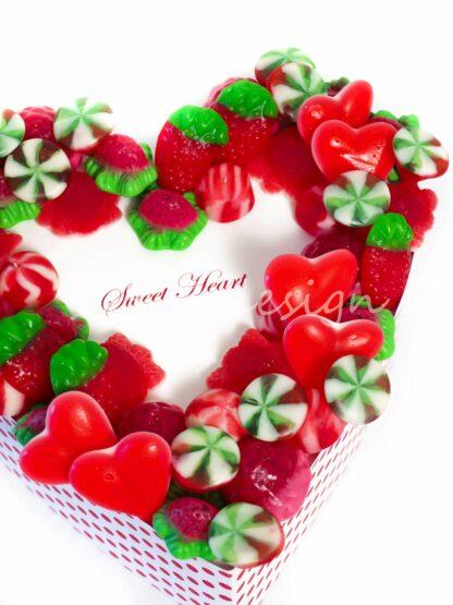 Corazón con mensaje personalizado