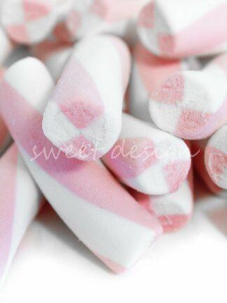 Nube rosa y blanca