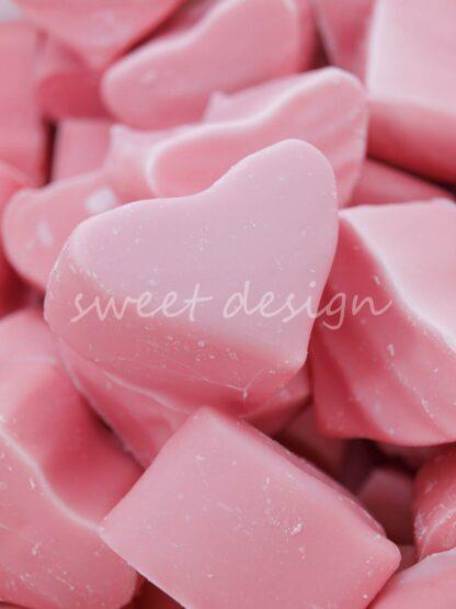 Corazón de Nube Bañado en Chocolate de Fresa