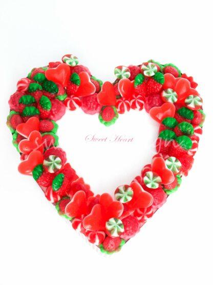 Corazón con gominolas