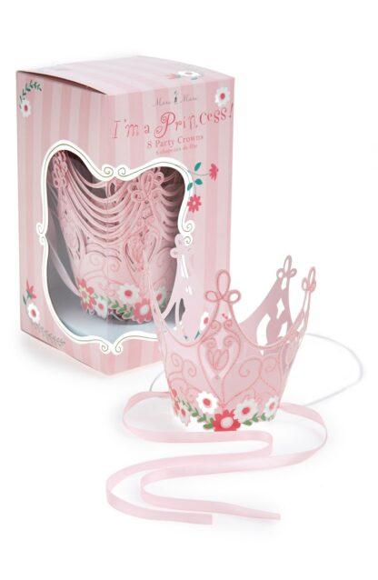Corona princesa rosa