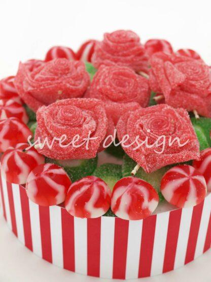 Rosas con golosinas