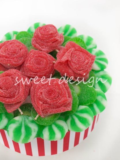 Tarta de rosas de chuches