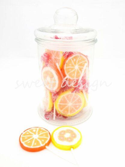 Piruletas naranjas