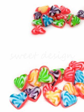 Chuches multicolor corazón