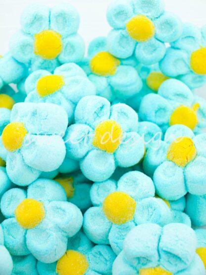 Flores azules dulces