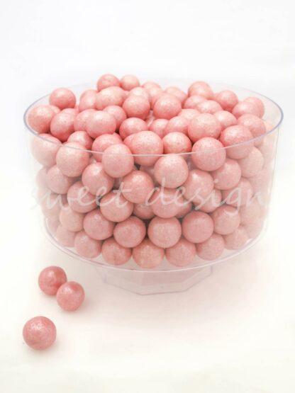 Copa con bolas de chocolate de colores