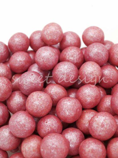 Bolas de chocolate rojas