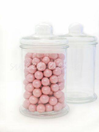 Bolas rosas de chocolate