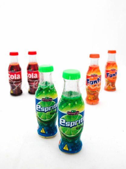 Chicles en botella de refresco