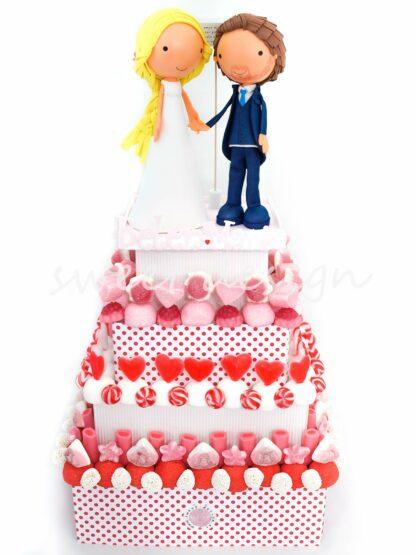 Tarta de golosinas para boda
