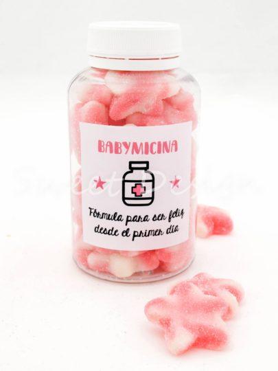 Bote de gominolas rosas