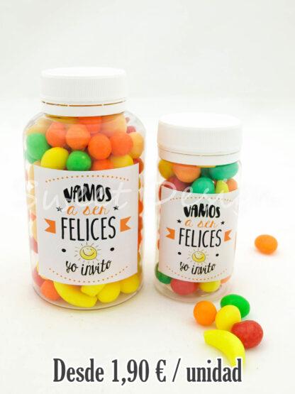 Bote de caramelos de frutas