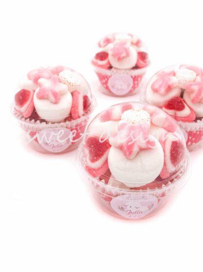 Bote de chuches rosas