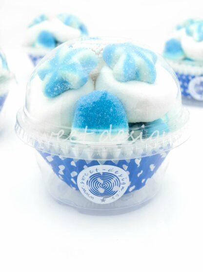 Vaso de golosinas azules