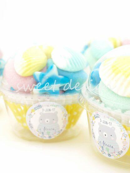 Vasito Cupcake con pegatina personalizada
