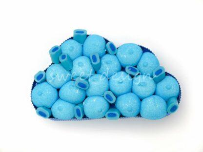 diseño con chuches azules