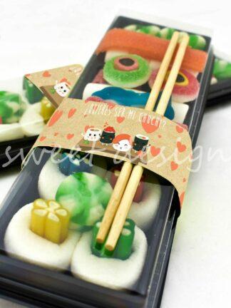 bandeja de sushi con gominolas