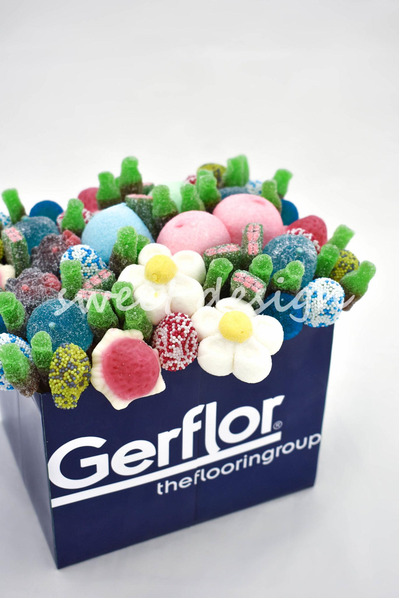 Centro de mesa de chuches para empresa gerflor sweet - Centro de mesa de chuches ...