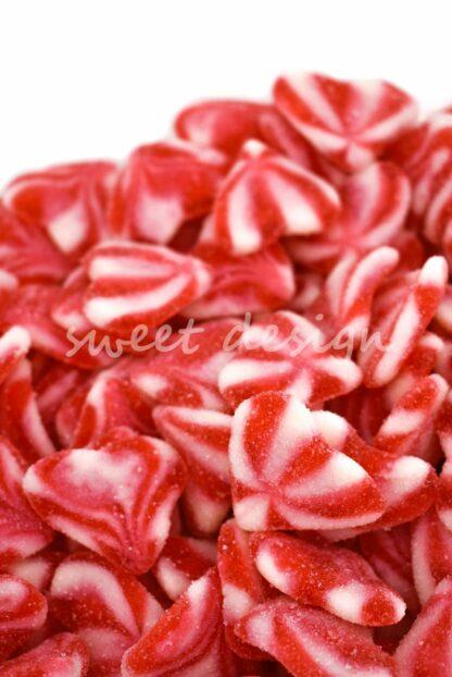 golosinas rojas para tartas