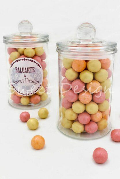 centros de mesa con bolas de chocolate para empresas