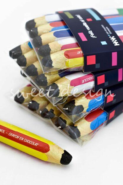 lápices de chocolate personalizados