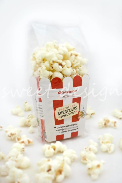 regalo promocional con palomitas de maíz