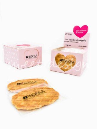 acción de marca con galletas para san valentín