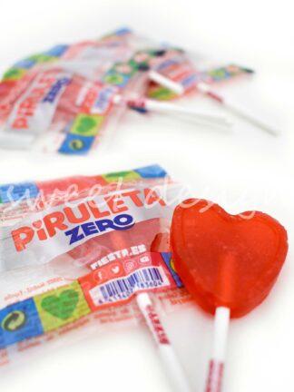 Piruleta Corazón Cereza Zero